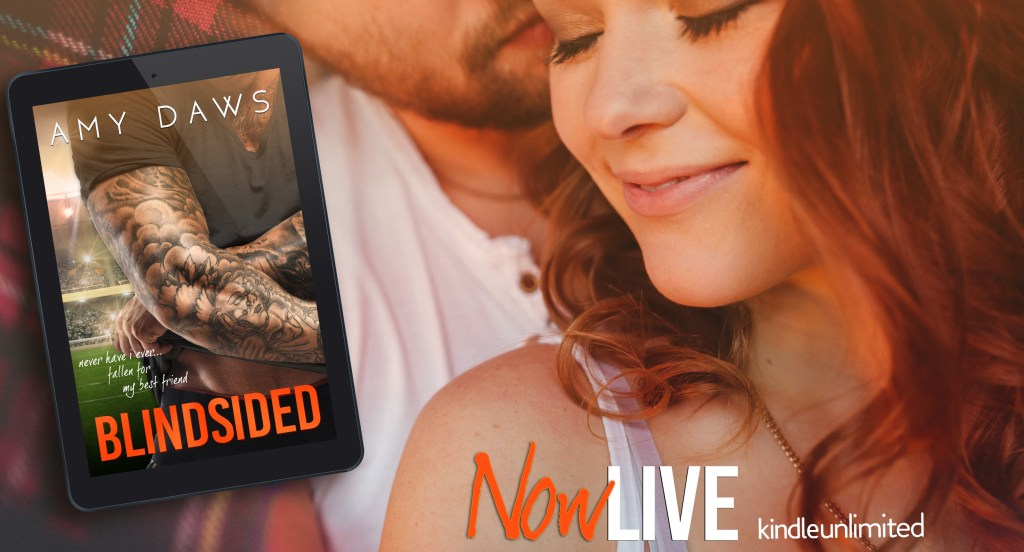 Blindsided by Amy Daws Now Live Banner