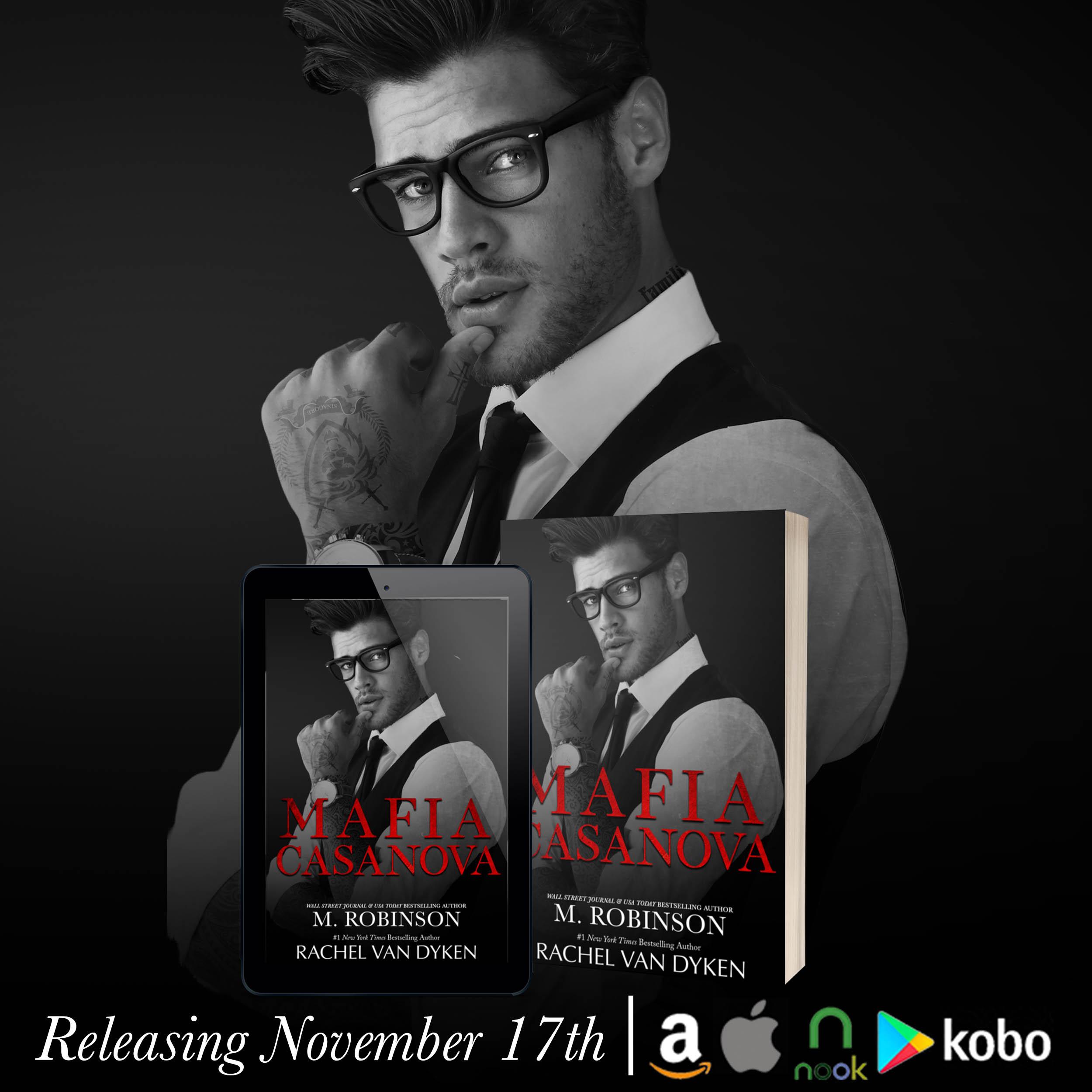 Mafia Casanova by M. Robinson & Rachel Van Dyken Cover Reveal