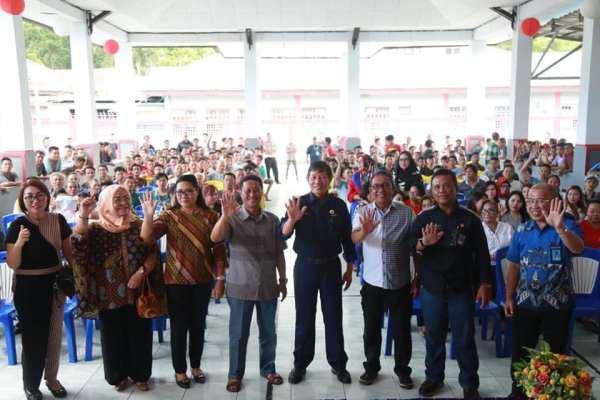 Walikota GSVL Kunjungi Warga Binaan Rutan Malendeng
