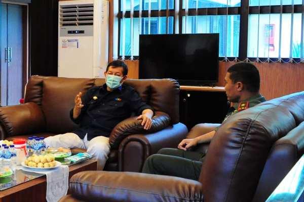Antisipasi Corona Virus, Walikota GSVL Koordinasi Dengan Danrem 131/Santiago