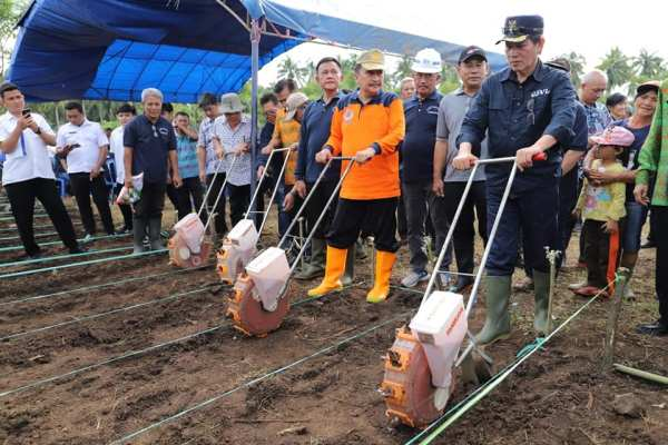 Tindaklanjut Manado Ba Kobong, Walikota GSVL Pimpin  Menanam Jagung