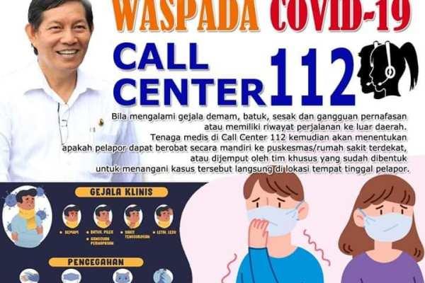 Cegah Covid-19, Selain Call Center 112 Pemkot Siapkan Kontak Surveilence 16 Puskesmas di Kota Manado