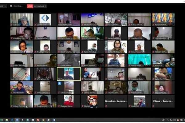 Pemkot Manado Gelar Musrenbang Via Video Conference
