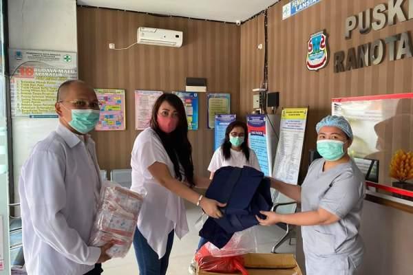 PDUI Sulut Salurkan Bantuan APD di 16 Puskesmas Manado dan 7 Puskesmas Tomohon