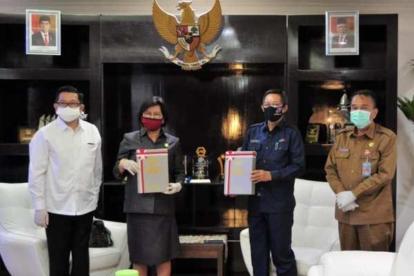 Disampaikan Lewat Vidcon, BPK RI Perwakilan Sulut Berikan Opini WTP ke Pemkot Manado