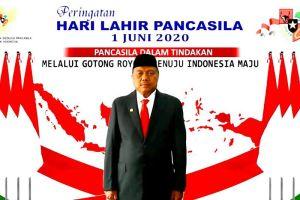 Dipimpin Jokowi, Gubernur Olly Ikuti Upacara Hari Lahir Pancasila Secara Virtual