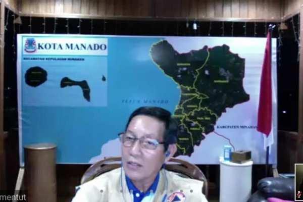 GSVL-MOR Gelar Pertemuan Lewat Vicon Bersama Wartawan Peliputan Pemkot Manado