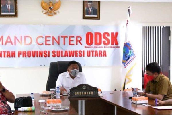 Gubernur Olly Ikuti Vidcon Penanganan Covid-19 dengan Presiden Jokowi, Bahas Pelaksanaan Tatanan Baru