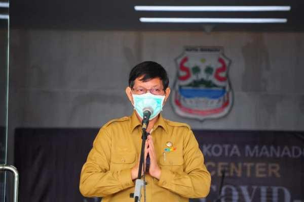 Data Satgas Covid-19 Nasional Manado dari Zona Merah ke Zona Orange, Walikota GSVL : Tetap Disiplin Ikuti Semua Protokol Kesehatan