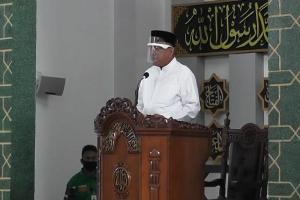 Hadiri Umat Islam Sholat Ied, Gubernur Olly : Selamat Hari Raya Idul Adha 1441 H untuk Seluruh Umat Muslim Sulut