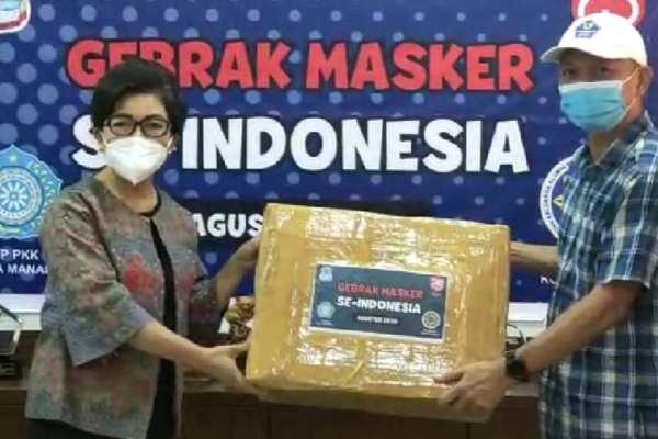 Ketua TP PKK Kota Manado, Terima Bantuan 3000 Masker dari IKAPTK