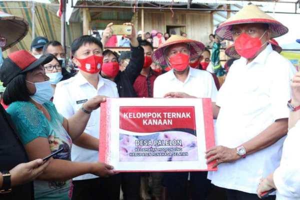 Bantu Sarana Produksi Petani, Gubernur Olly Kukuhkan Korporasi Kelapa di Minsel
