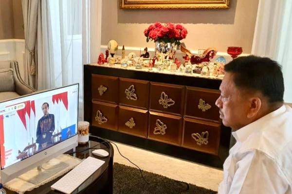 Dibuka Jokowi, Gubernur Olly Ikuti Aksi Nasional Pencegahan Korupsi