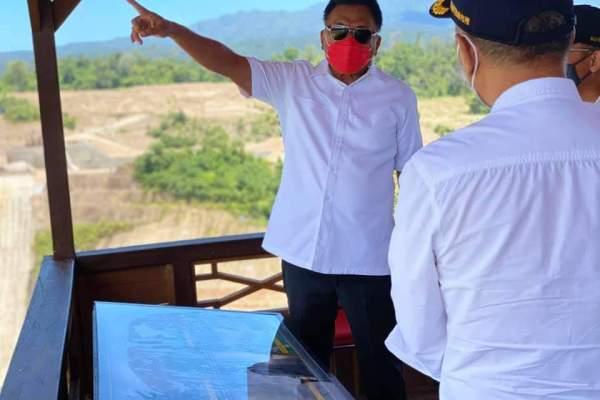 Target 2021 Selesai, Gubernur Olly Tinjau Pembangunan Proyek Bendungan Kuwil Kawangkoan
