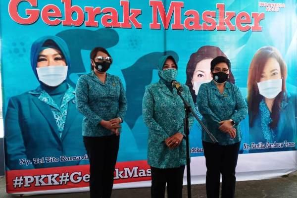 TP PKK All Out Masifkan Gebrak Masker di Sulut