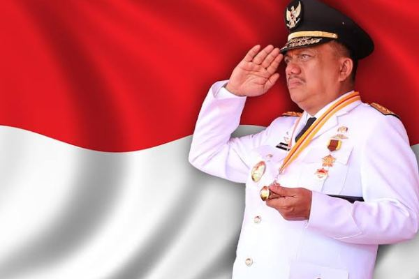 Gubernur Olly Kukuhkan Paskibraka HUT ke-75 Kemerdekaan RI