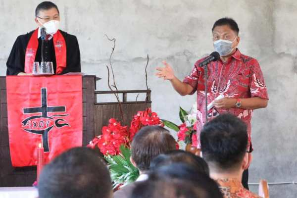 Gubernur Olly Apresiasi Peresmian Jemaat GMIM Exodus Lansot Ranowangko