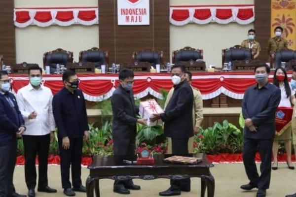 Gubernur Olly Apresiasi Deprov Atas Disetujuinya Ranperda APBDP 2020