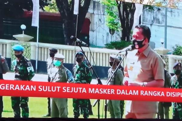 "Launching Gerakan Sejuta Masker, Pjs Gubernur Sulut: ""Mari Jo Pakai Masker"""