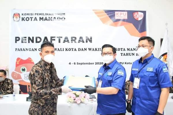 Didoakan, MOR-HJP Resmi Mendaftar di KPU, Diantar Ribuan Massa Kota Manado