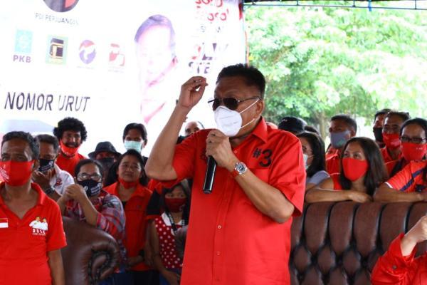 Tiga Hari Sambangi Nusa Utara, Olly Dondokambey Yakin Menang 75% Di Nusa Utara