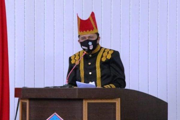 Pjs Gubernur Fatoni Launching Gerakan Sulut Bermasker di HUT Kota Cakalang