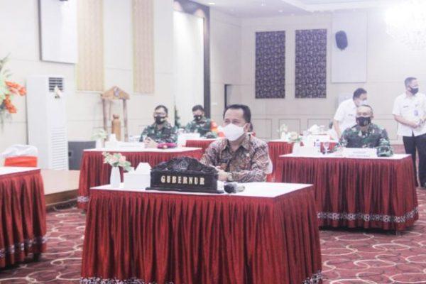 Pjs Gubernur Fatoni Bersama Forkopimda Ikuti Rakor Kebijakan Pemerintah Pusat dan Daerah Dalam Pelaksanaan Regulasi Omnibus Law