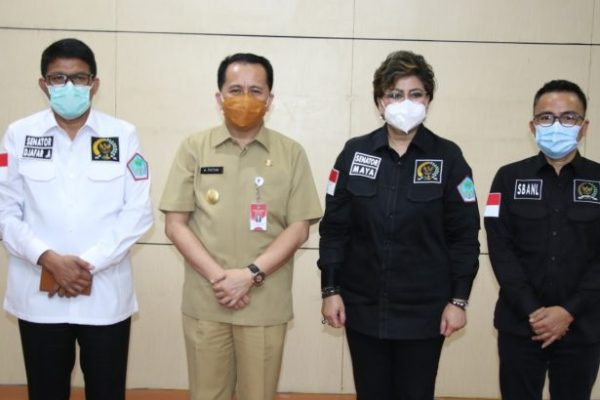 Terima Kunker DPD RI, Pjs Gubernur Fatoni Paparkan Kesiapan Pilkada Sulut Aman C-19