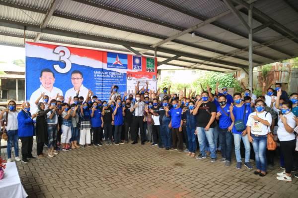 Disambut dengan Yel-yel kemenangan , HJP lantik tim Relawan MOR-HJP tingkat Kelurahan