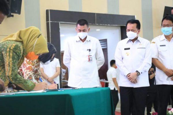 Pjs Gubernur Sulut bareng Wakil Ketua KPK Saksikan dan Apresiasi MoU Tax Online antara Pemda – Bank SulutGo