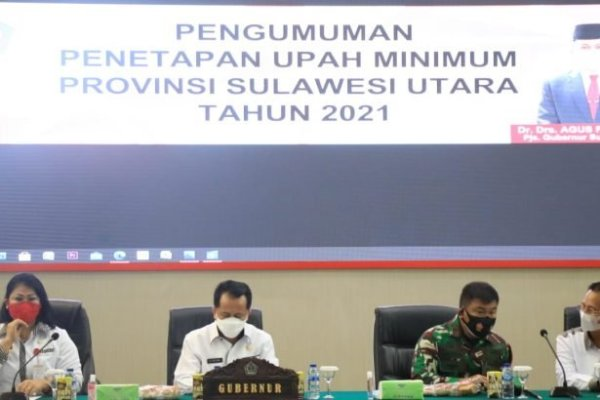 Kendati Pandemi Covid-19, UMP Sulut 2021 Tetap Terbesar Ketiga di Indonesia