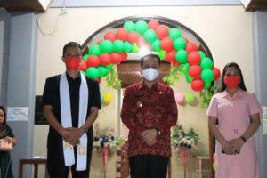 Terapkan Prokes, Pjs Gubernur Fatoni Apresiasi Ibadah Syukur HUT ke-129 Jemaat GMIM Eklesia Kalasey