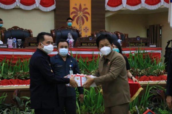 Pjs Gubernur Fatoni Pamitan di Paripurna Terakhir, Pemprov – Deprov Sepakati APBD Sulut 2021