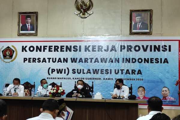 PWI Sulut Gelar Konferensi Kerja di Ruang C.J Rantung Kantor Gubernur Sulut