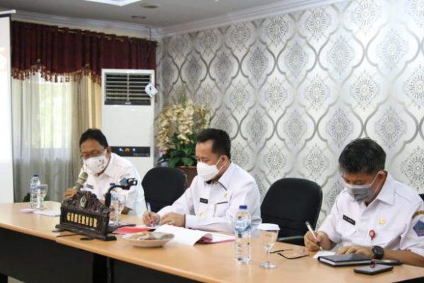 Akan Dihadiri Mendagri, Pjs Gubernur Fatoni Pimpin Rapat Matangkan Persiapan Launching Gerakan Sulut Bermasker