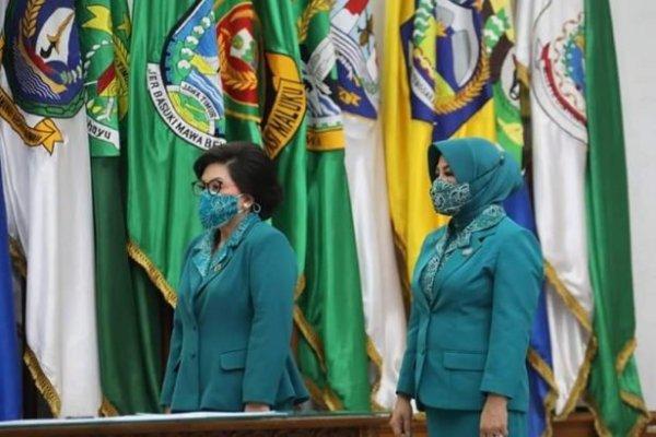 Ketum TP PKK Ny Tri Tito Karnavian Lantik Ny Rita Dondokambey-Tamuntuan Sebagai Ketua TP PKK Sulut, Ini Pesannya