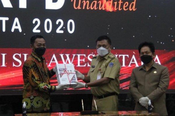 Gubernur Olly bersama Bupati/Walikota Serahkan LKPD 2020 ke BPK