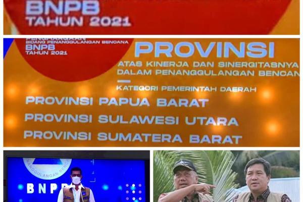 Dibawah Kepemimpinan ODSK, Sulut Raih Penghargaan dari BNPB