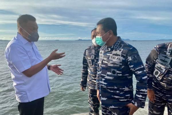 Gubernur Olly Bersama Wakasal Tinjau Lokasi Rencana Pembangunan Sekolah TNI AL di Likupang