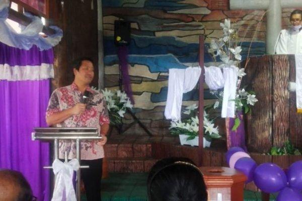 Wagub Kandouw Ibadah Paskah Bersama Jemaat GMIM Panggumaan Tondano, Ingatkan Pentingnya Kualitas Iman
