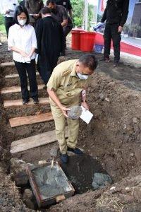 Gubernur Olly Letakan Batu Pertama Pembangunan Gereja Kampus Unsrat, Ini Harapannya