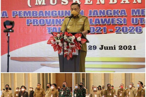 Gubernur Olly Pimpin Musrenbang RPJMD 2021-2026