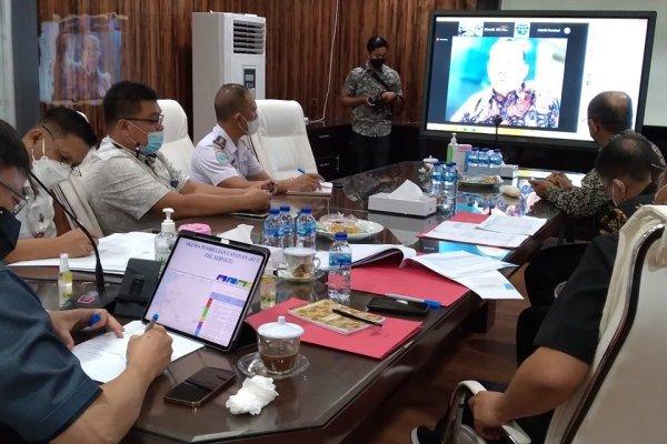 Vidcon Bersama Kemenhub, Soal ATCS Walikota Manado Berharap Dirjen Perhubungan Darat Bisa Bantu Kota Manado