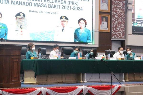 AARS Hadiri Pelantikan Pengurus TPKK Manado Masa Bakti 2021-2024