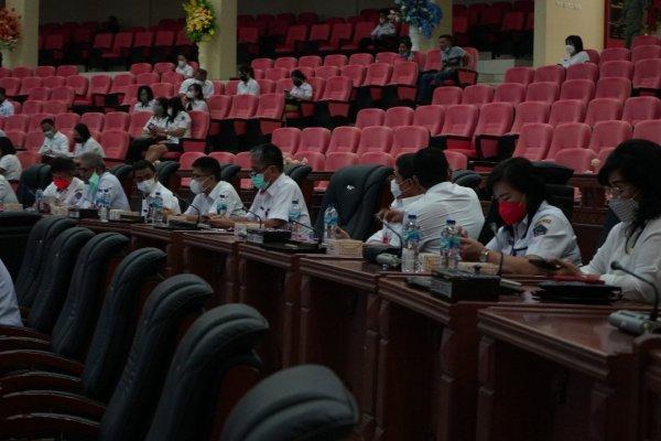 Sekdaprov Silangen Ikuti Rapat Lanjutan Pembahasan Ranperda Pertanggungjawaban Pelaksanaan APBD TA. 2020