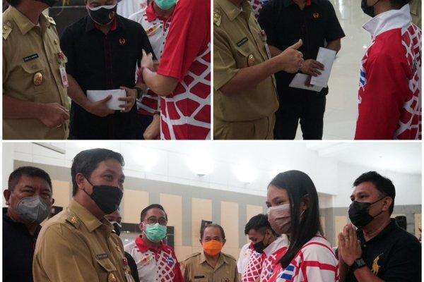 Jelang PON XX Papua, Wagub Beri Arahan Juga Uang Saku Kepada Atlet dan Pelatih Kontingen Sulut