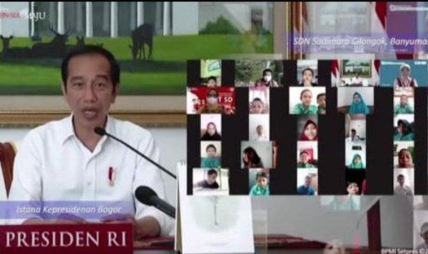 Puncak Peringatan Hari Anak Nasional, Wagub Kandouw Ikuti Secara Virtual Acara Yang Dihadiri Presiden Jokowi