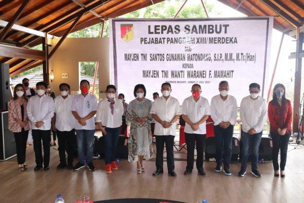 Walikota Hadiri Pisah Sambut Pangdam XIII/Merdeka di Resort Raewaya Bitung