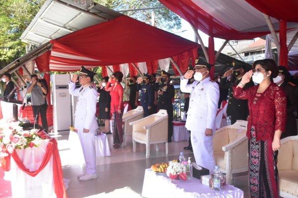 Andrei Angouw Irup Upacara Kemerdekaan RI ke 76 Pemerintah Kota Manado