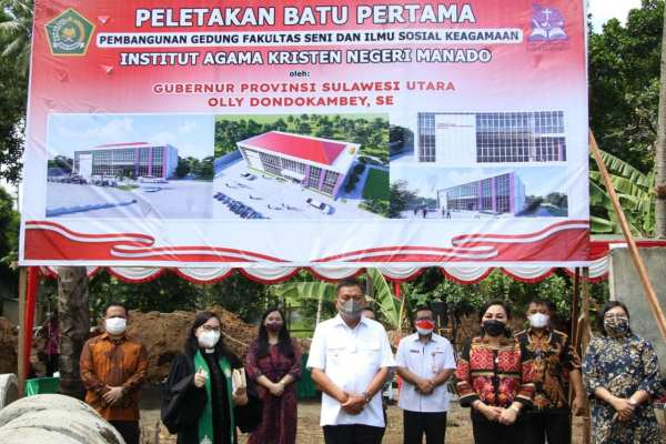 Gubernur Olly Apresiasi Pembangunan Gedung IAKN Manado